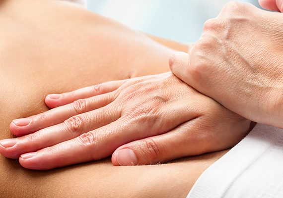 Osteopathic belly massage